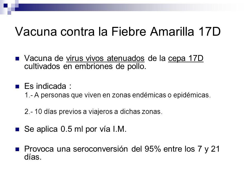 Vacuna contra la Fiebre Amarilla 17D