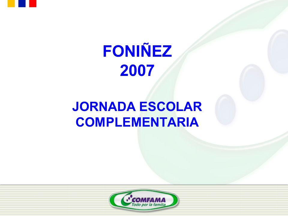 FONIÑEZ 2007 JORNADA ESCOLAR COMPLEMENTARIA