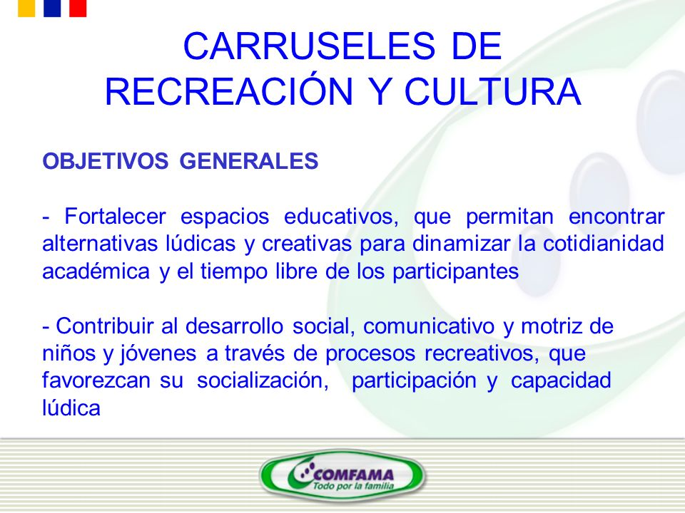 CARRUSELES DE RECREACIÓN Y CULTURA