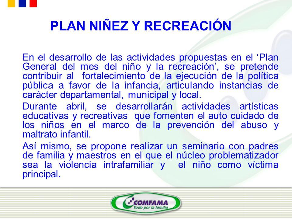 PLAN NIÑEZ Y RECREACIÓN