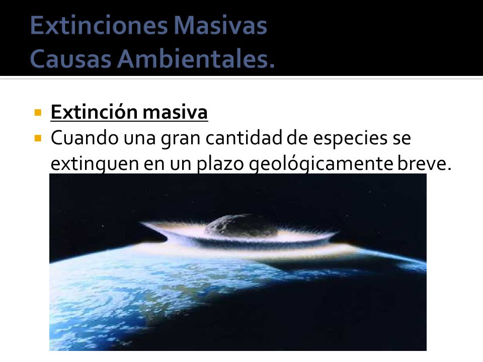 Extinciones Masivas Causas Ambientales.