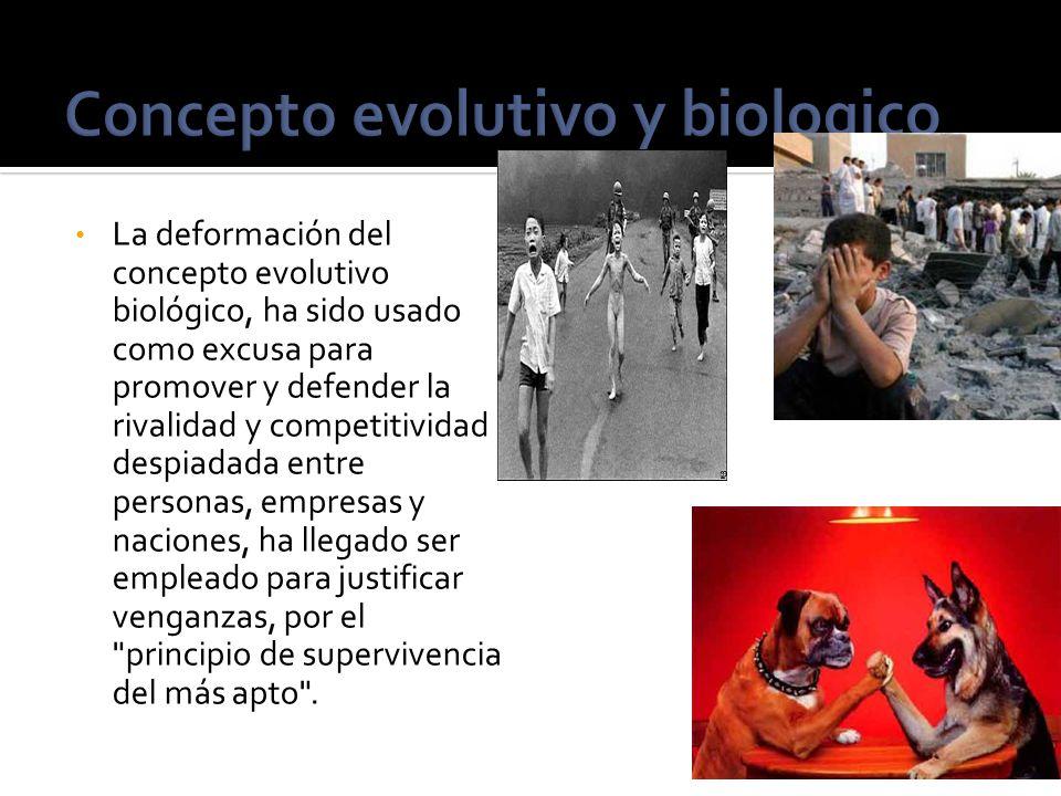 Concepto evolutivo y biologico