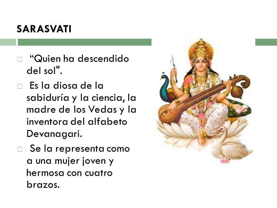 SARASVATI Quien ha descendido del sol .