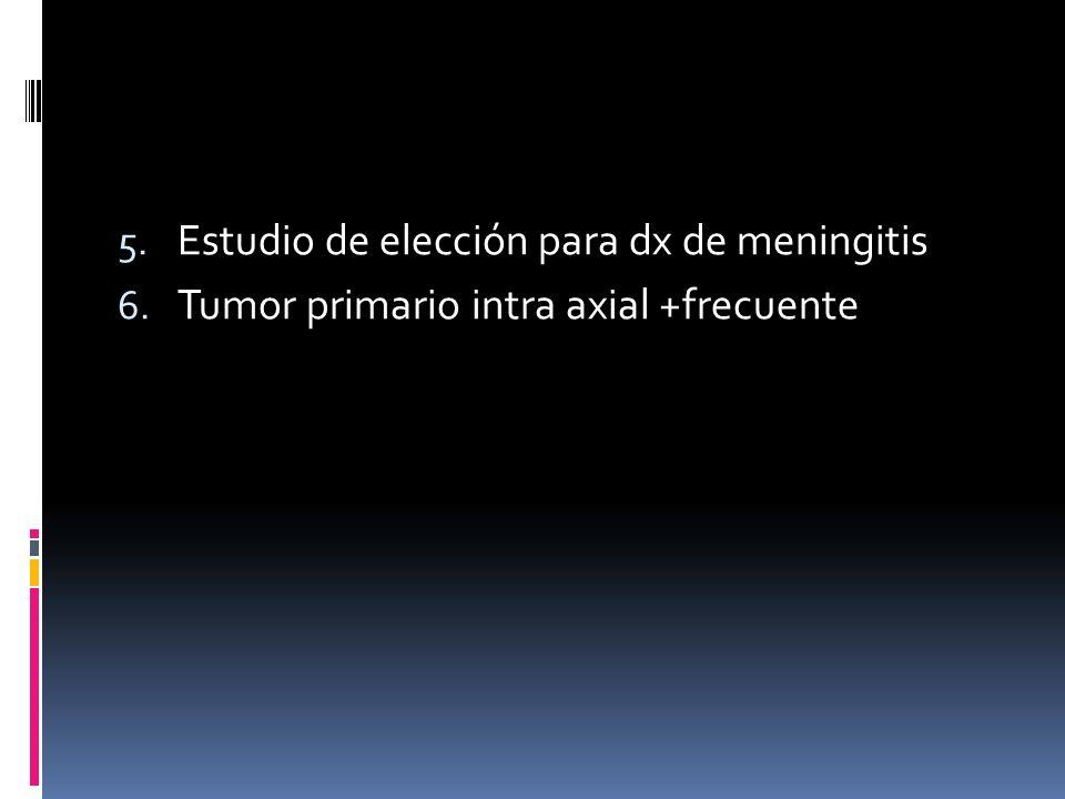 Estudio de elección para dx de meningitis