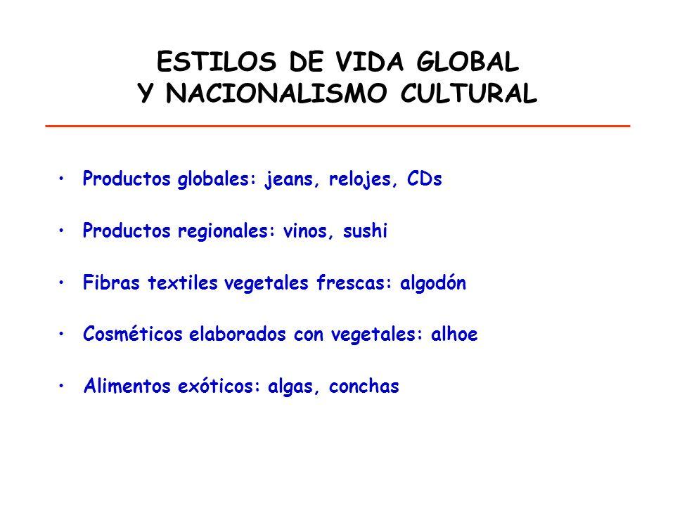 ESTILOS DE VIDA GLOBAL Y NACIONALISMO CULTURAL