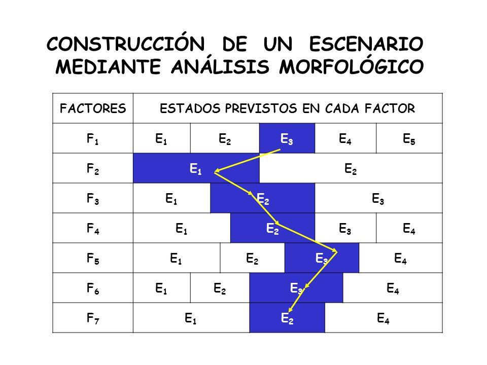 CONSTRUCCIÓN DE UN ESCENARIO MEDIANTE ANÁLISIS MORFOLÓGICO