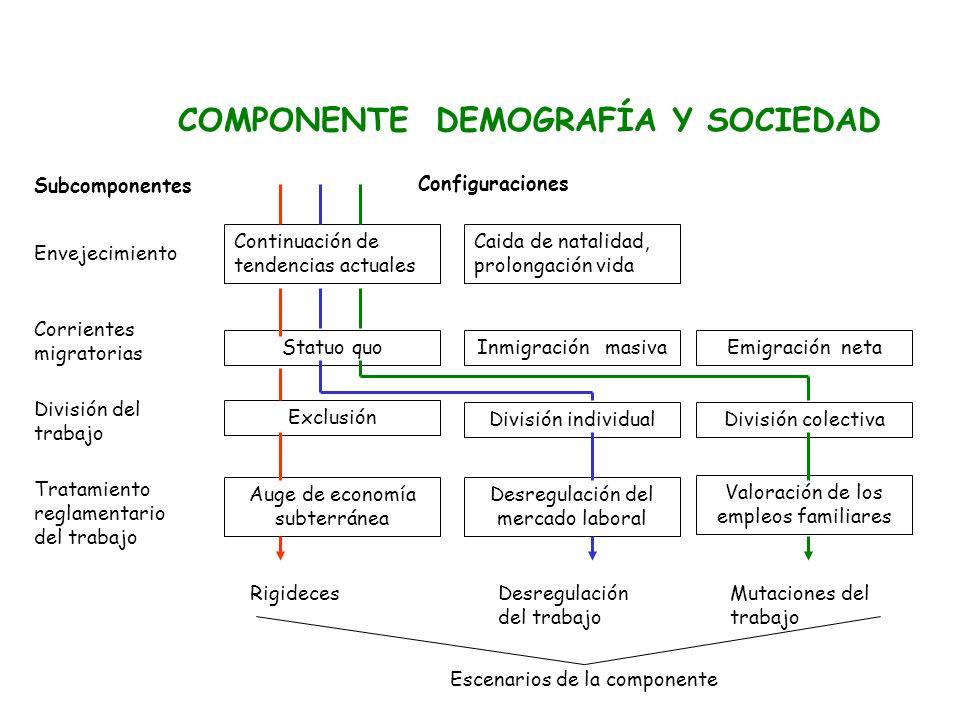 COMPONENTE DEMOGRAFÍA Y SOCIEDAD