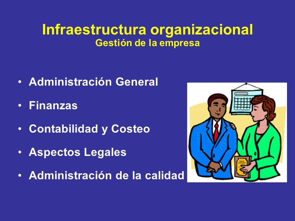 Infraestructura organizacional Gestión de la empresa