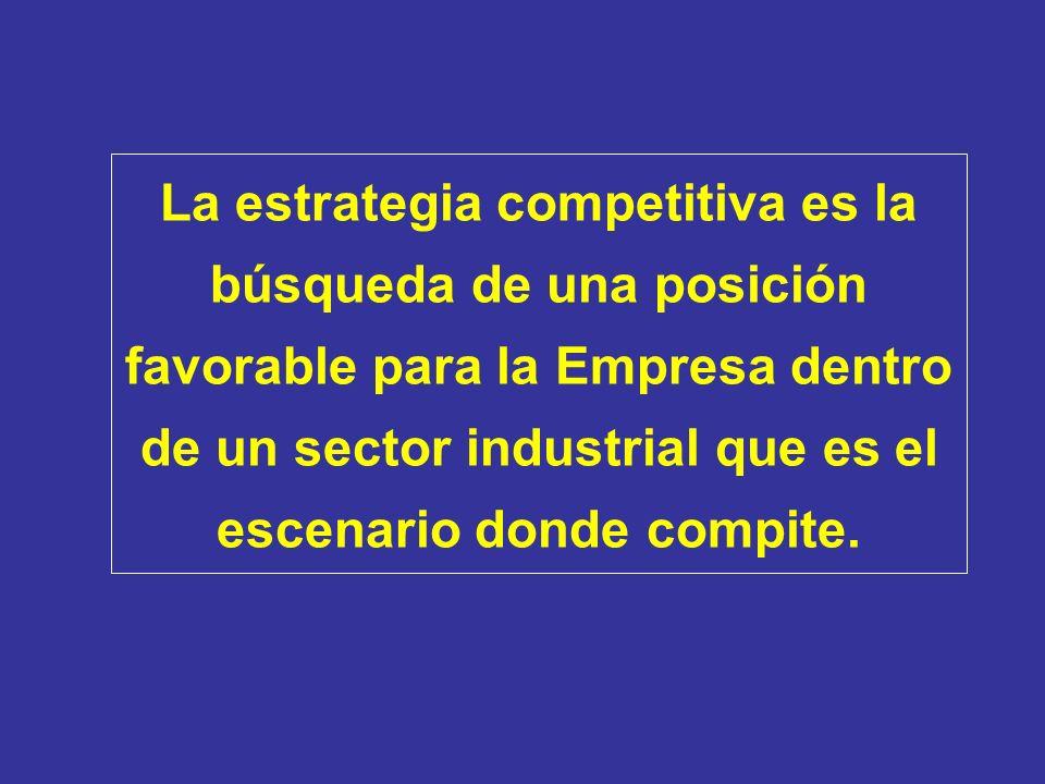 La estrategia competitiva es la búsqueda de una posición favorable para la Empresa dentro de un sector industrial que es el escenario donde compite.