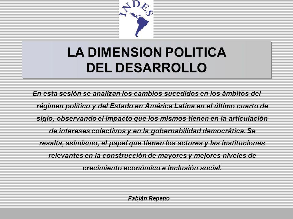 LA DIMENSION POLITICA DEL DESARROLLO