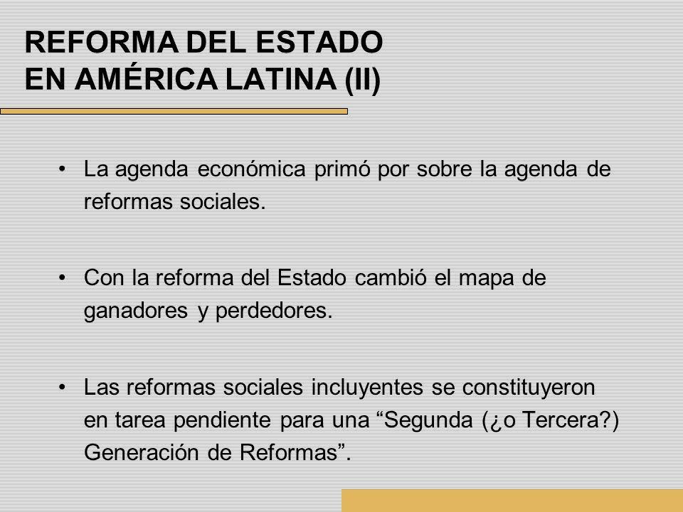 REFORMA DEL ESTADO EN AMÉRICA LATINA (II)
