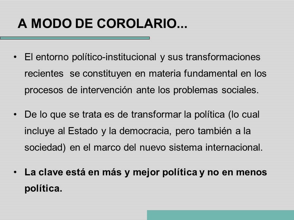 A MODO DE COROLARIO...
