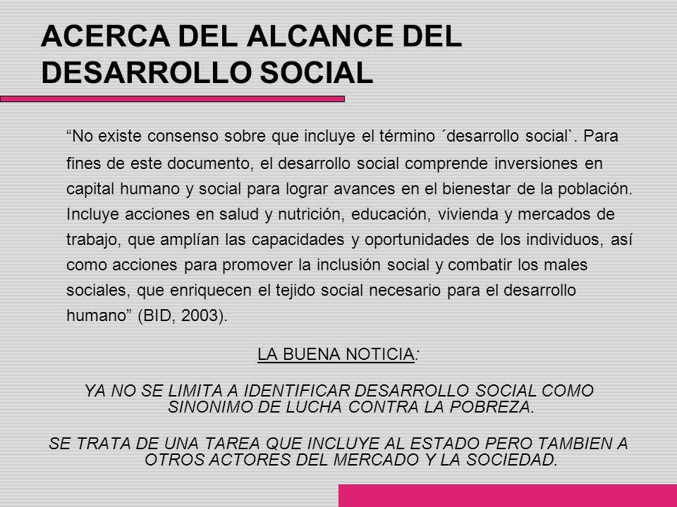 ACERCA DEL ALCANCE DEL DESARROLLO SOCIAL