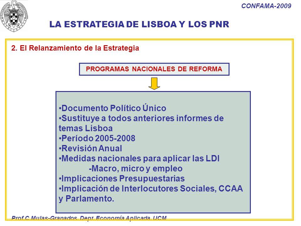 PROGRAMAS NACIONALES DE REFORMA