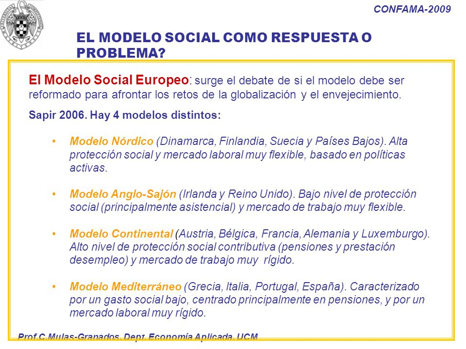 EL MODELO SOCIAL COMO RESPUESTA O PROBLEMA