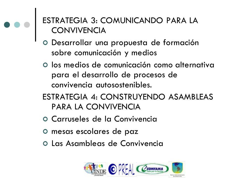 ESTRATEGIA 3: COMUNICANDO PARA LA CONVIVENCIA