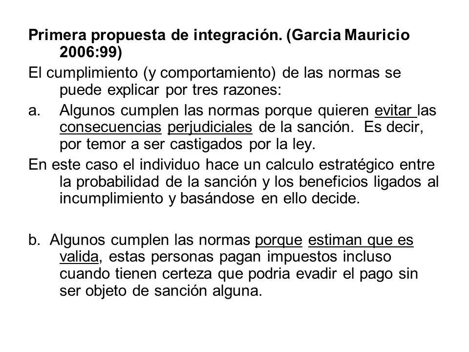Primera propuesta de integración. (Garcia Mauricio 2006:99)