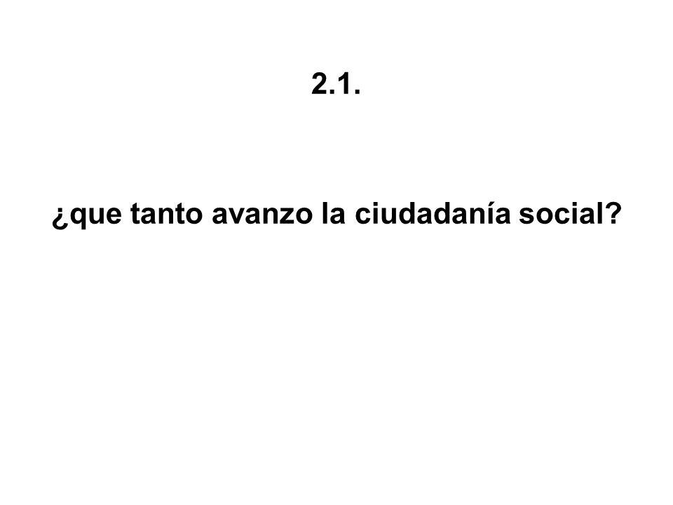 ¿que tanto avanzo la ciudadanía social