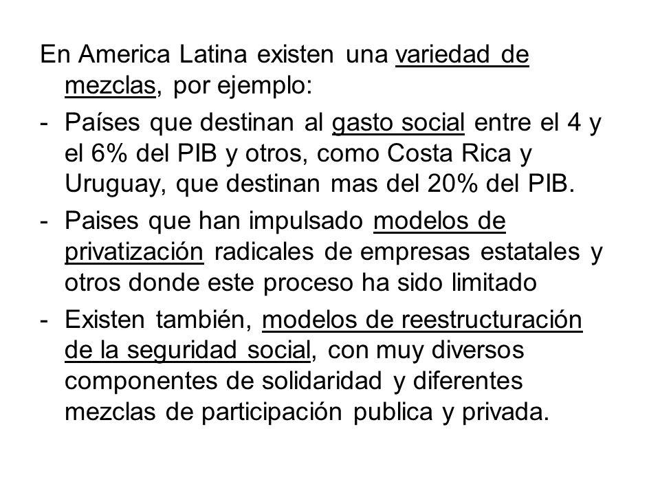 En America Latina existen una variedad de mezclas, por ejemplo: