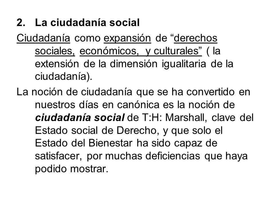La ciudadanía social