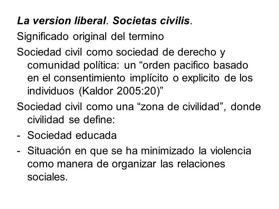 La version liberal. Societas civilis.