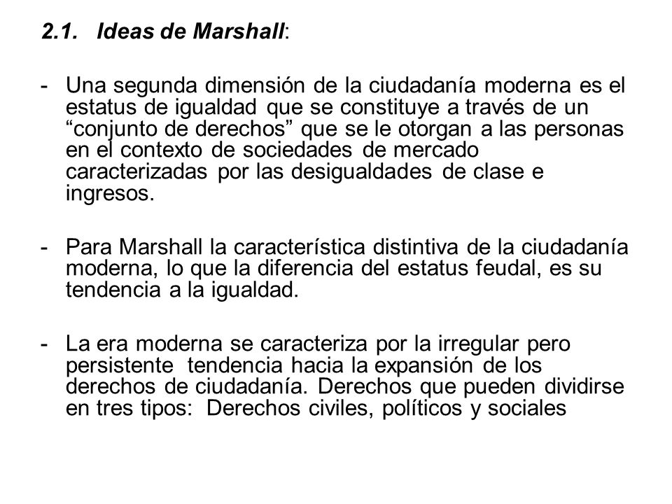 2.1. Ideas de Marshall: