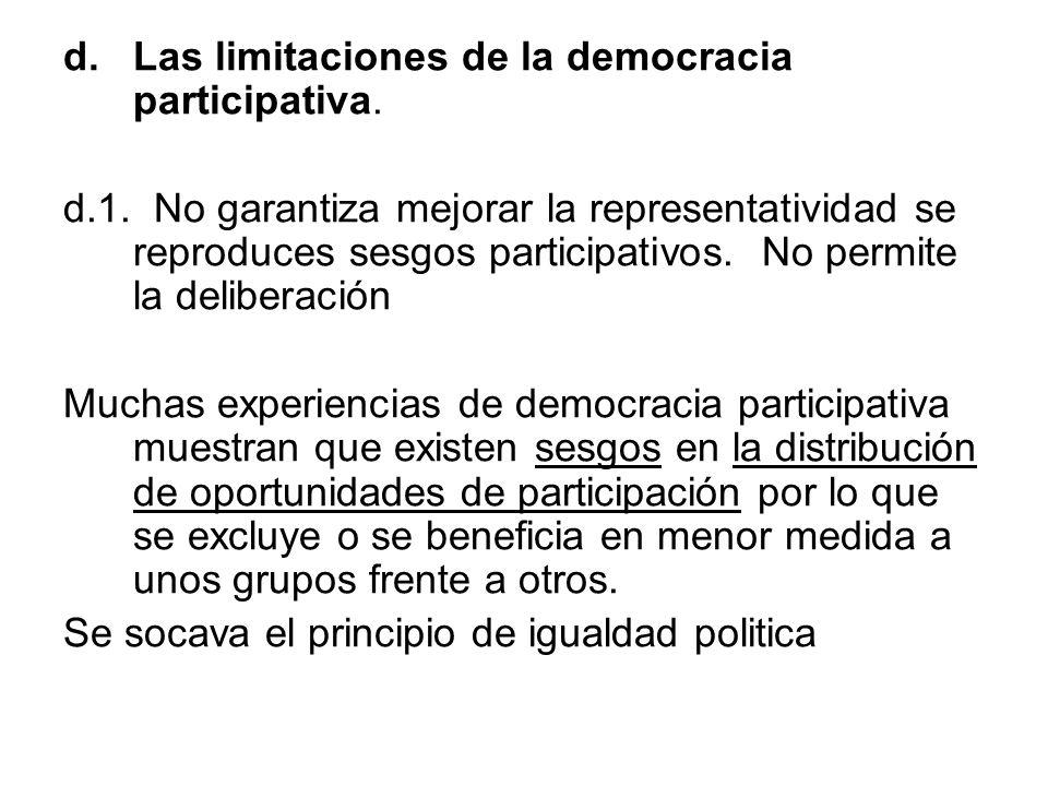 Las limitaciones de la democracia participativa.