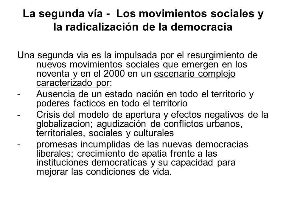 La segunda vía - Los movimientos sociales y la radicalización de la democracia