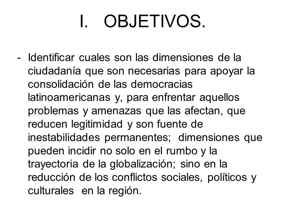 I. OBJETIVOS.