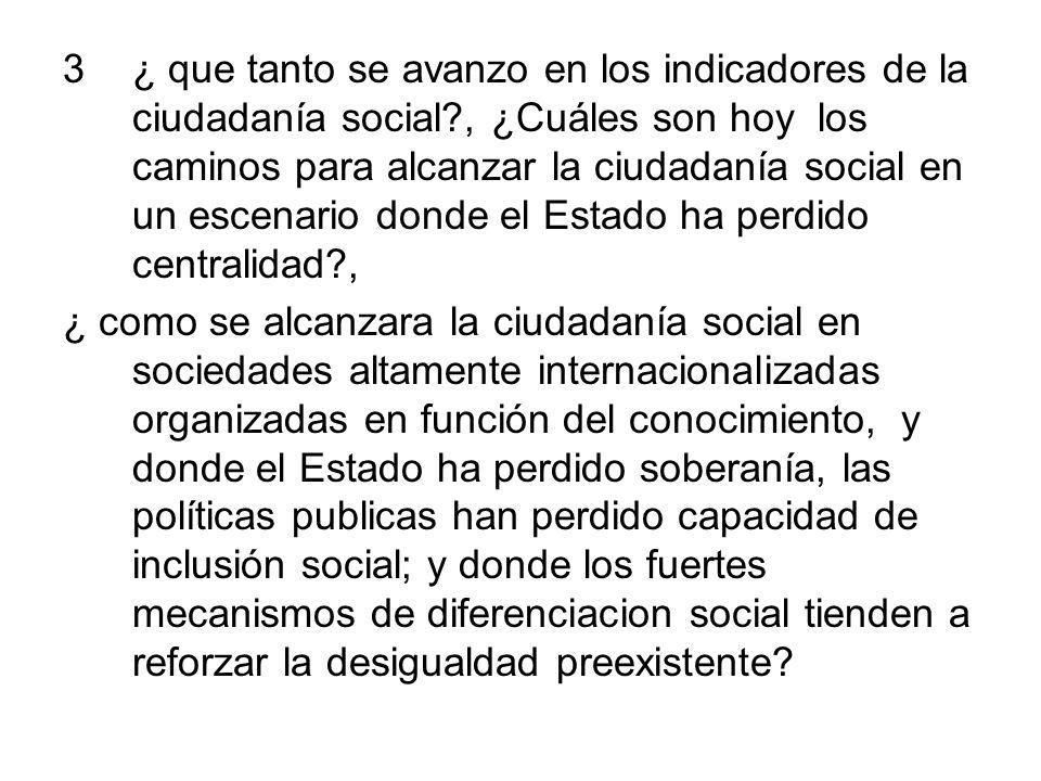 ¿ que tanto se avanzo en los indicadores de la ciudadanía social