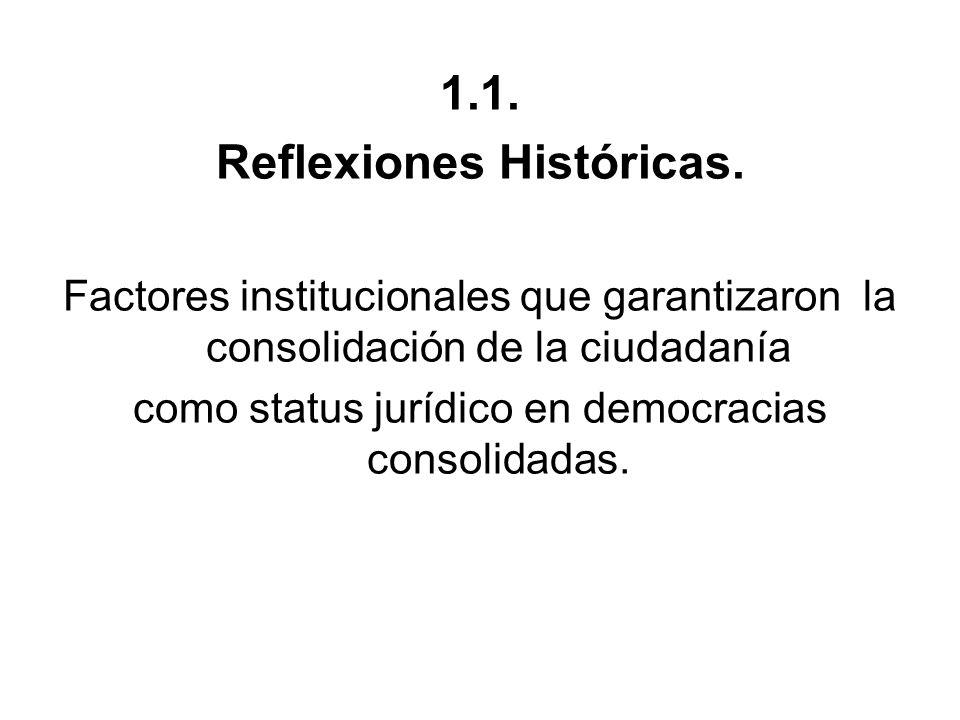 Reflexiones Históricas.