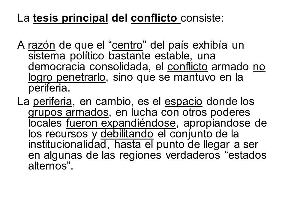 La tesis principal del conflicto consiste: