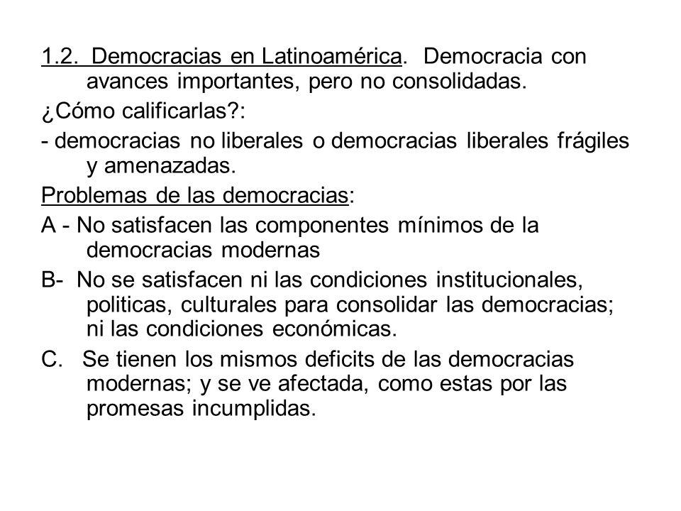 1. 2. Democracias en Latinoamérica