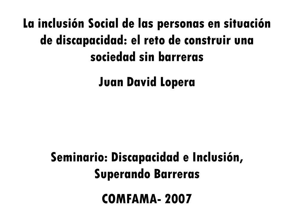 Seminario: Discapacidad e Inclusión, Superando Barreras