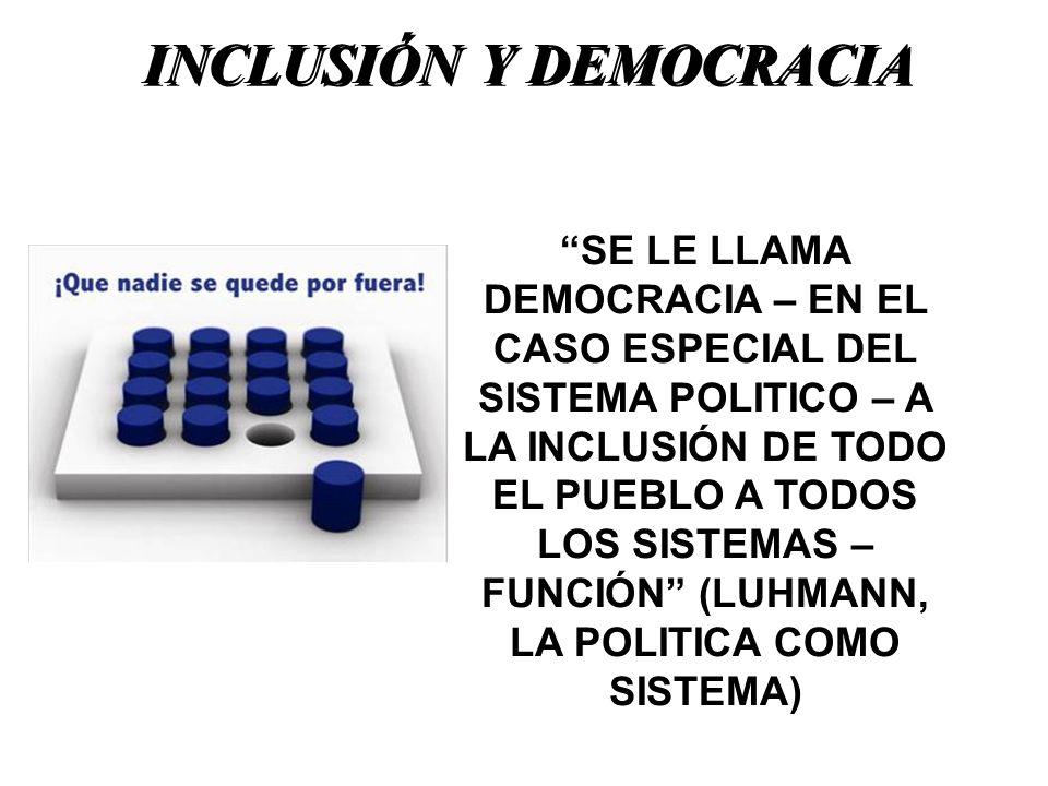 INCLUSIÓN Y DEMOCRACIA