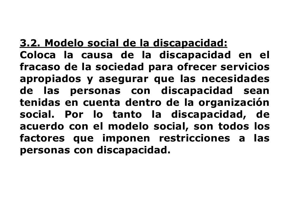 3.2. Modelo social de la discapacidad: