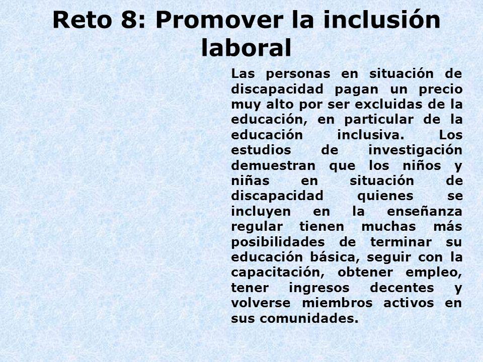 Reto 8: Promover la inclusión laboral