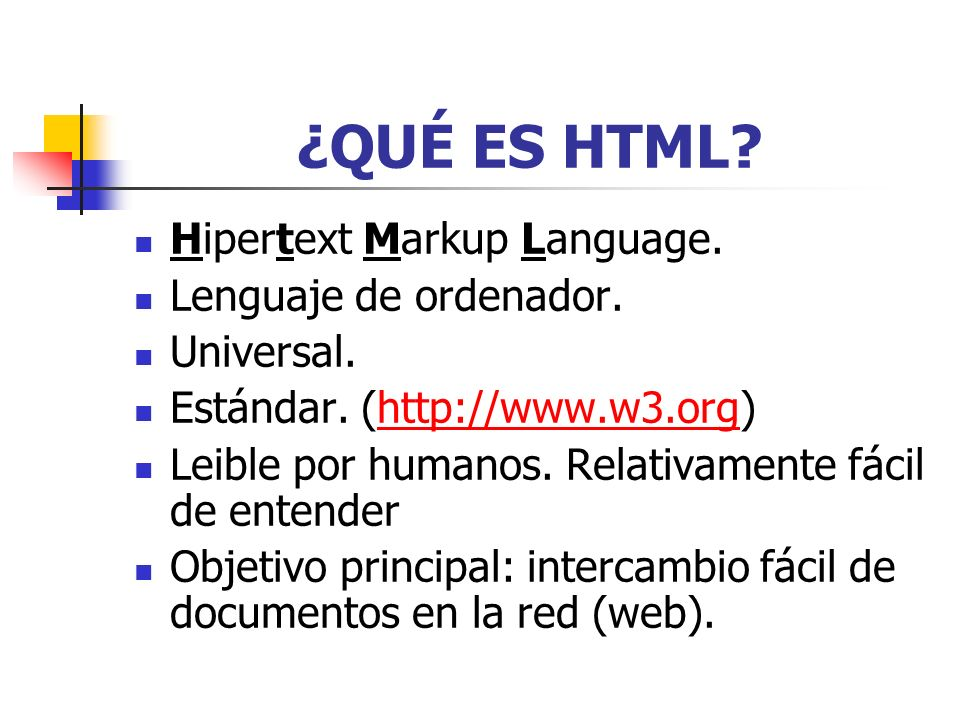 ¿QUÉ ES HTML Hipertext Markup Language. Lenguaje de ordenador.