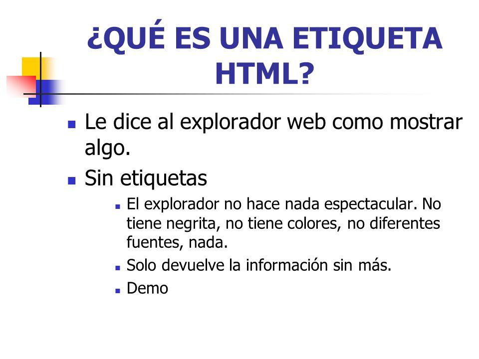 ¿QUÉ ES UNA ETIQUETA HTML