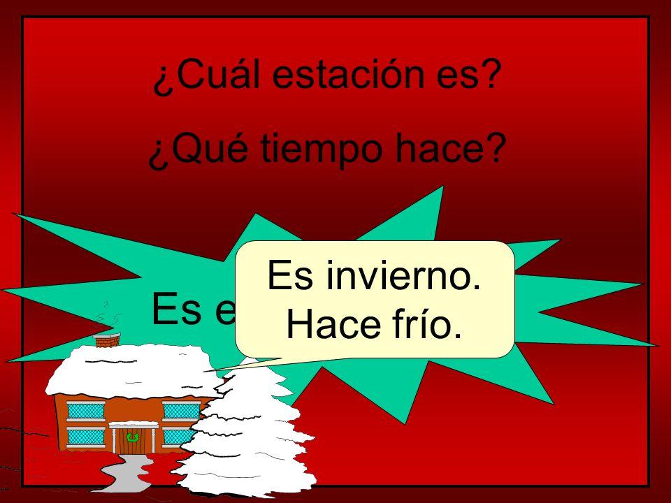 Es el 10 de enero ¿Cuál estación es ¿Qué tiempo hace Es invierno.