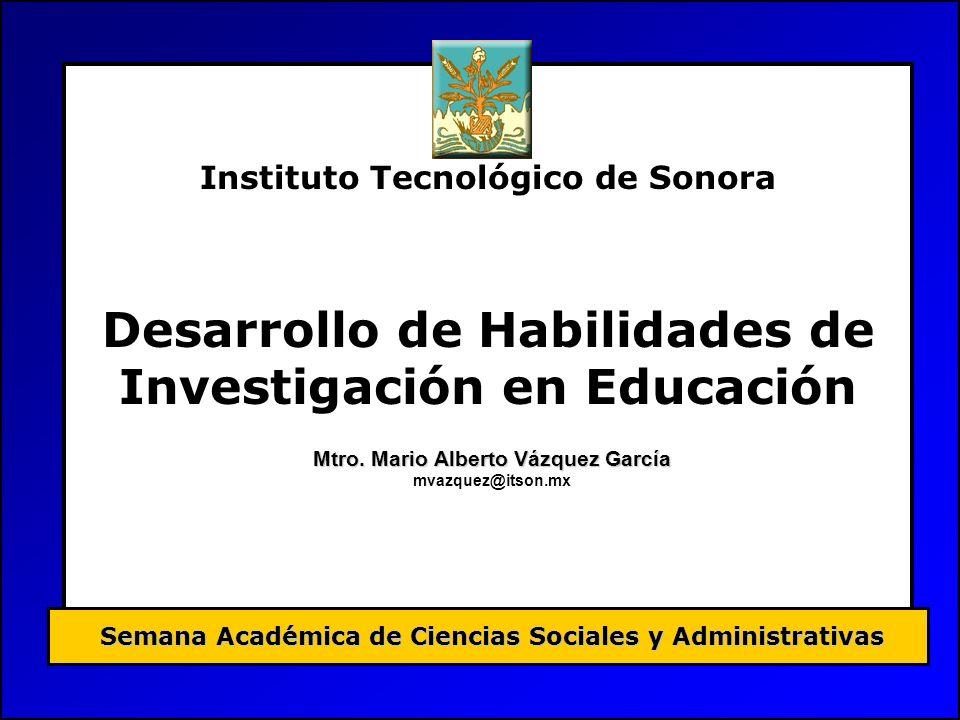 Desarrollo de Habilidades de Investigación en Educación
