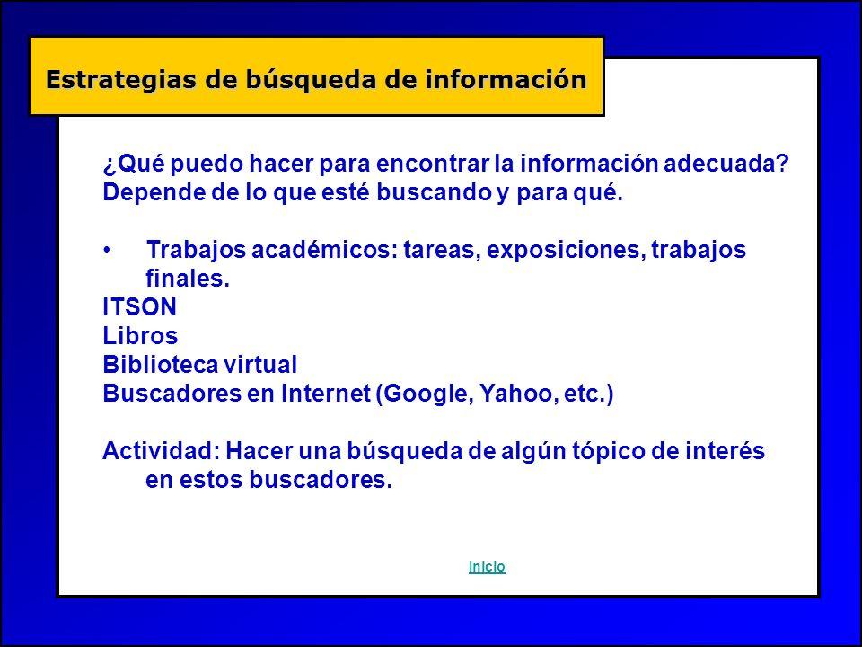 Estrategias de búsqueda de información
