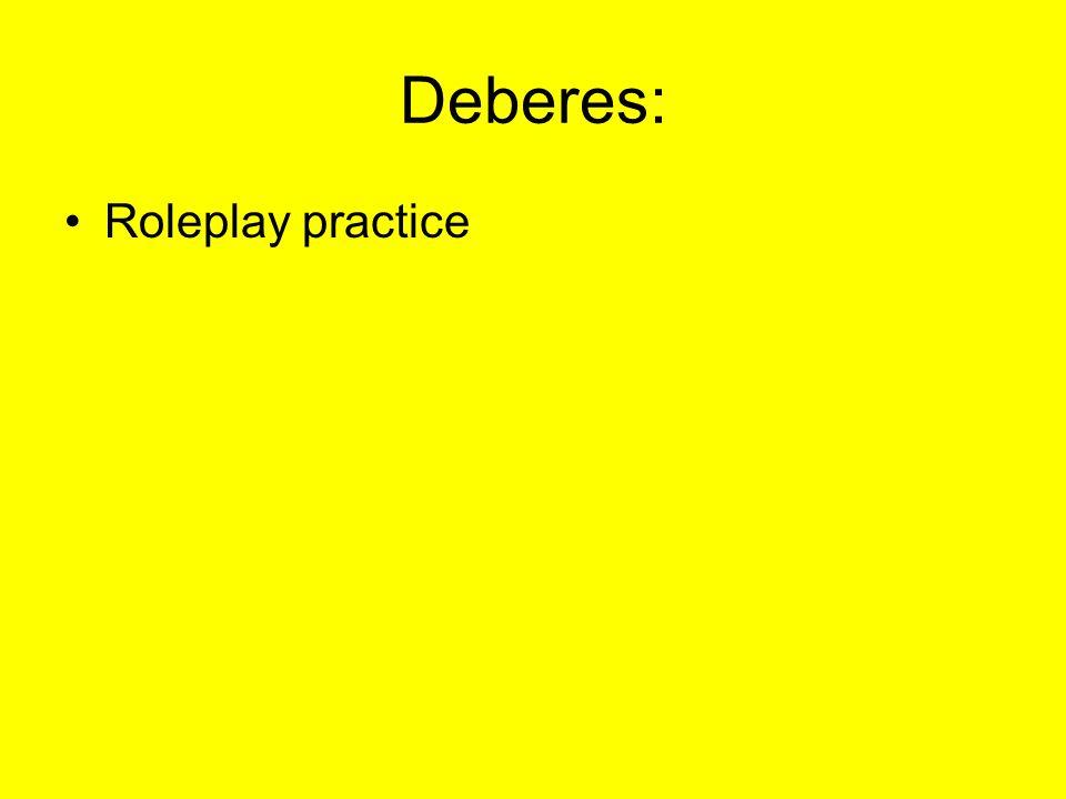 Deberes: Roleplay practice
