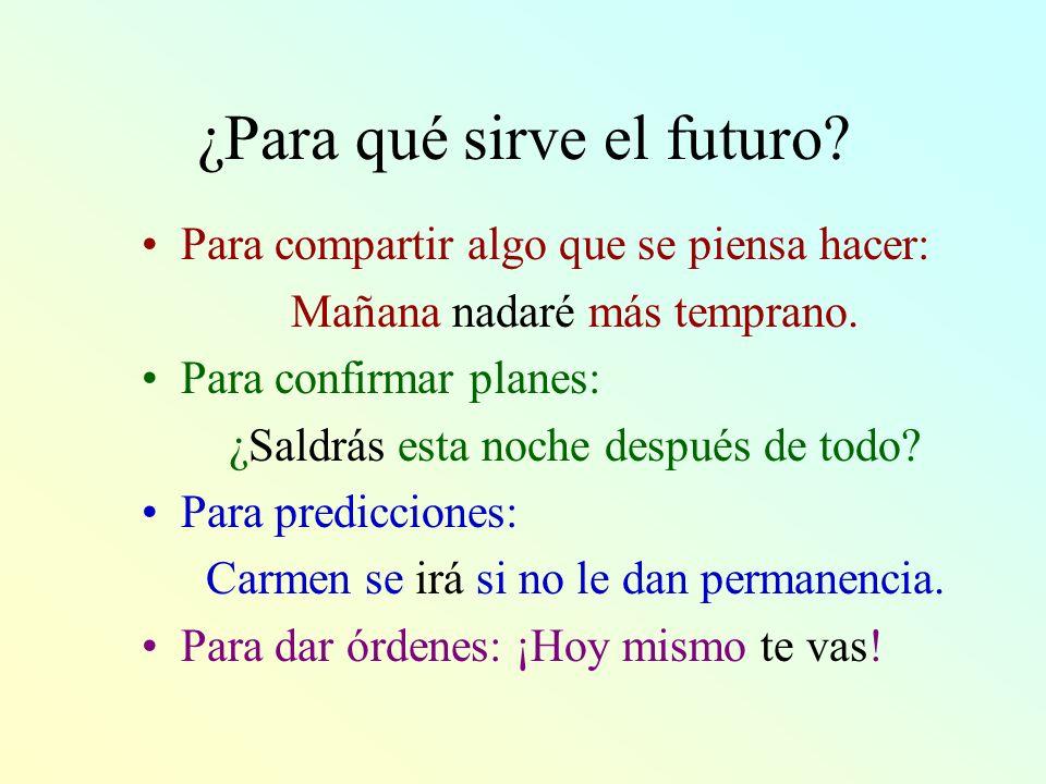 ¿Para qué sirve el futuro