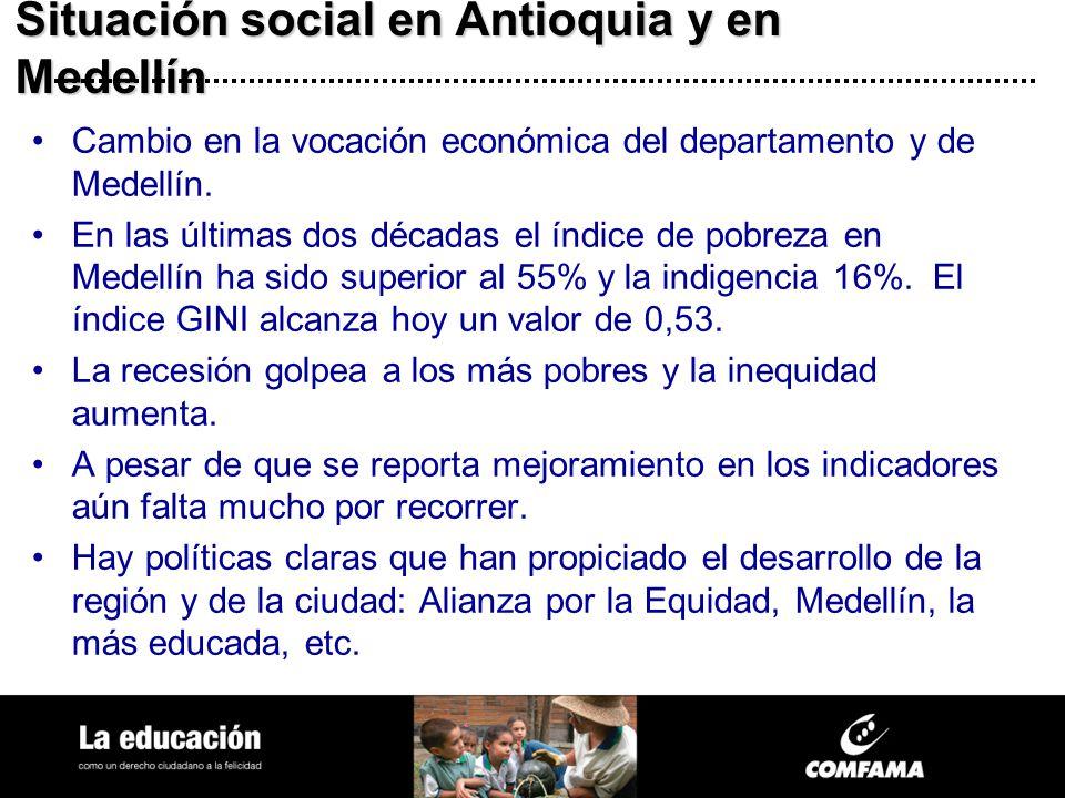 Situación social en Antioquia y en Medellín