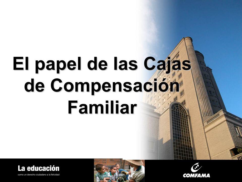 El papel de las Cajas de Compensación Familiar