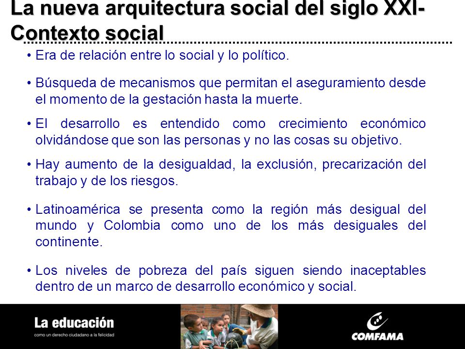 La nueva arquitectura social del siglo XXI-Contexto social