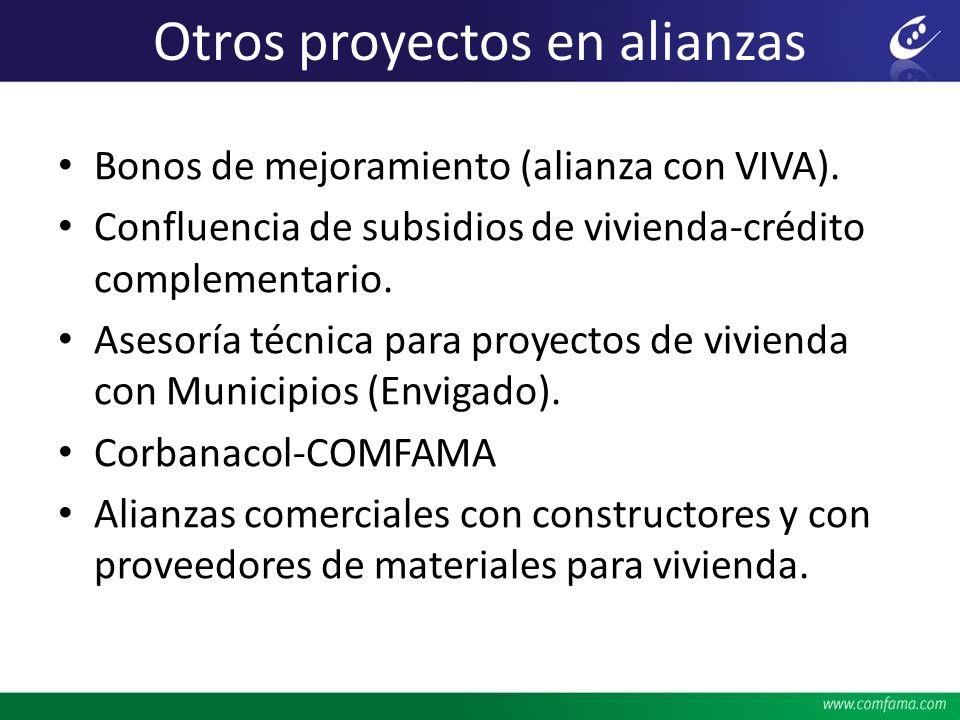 Otros proyectos en alianzas