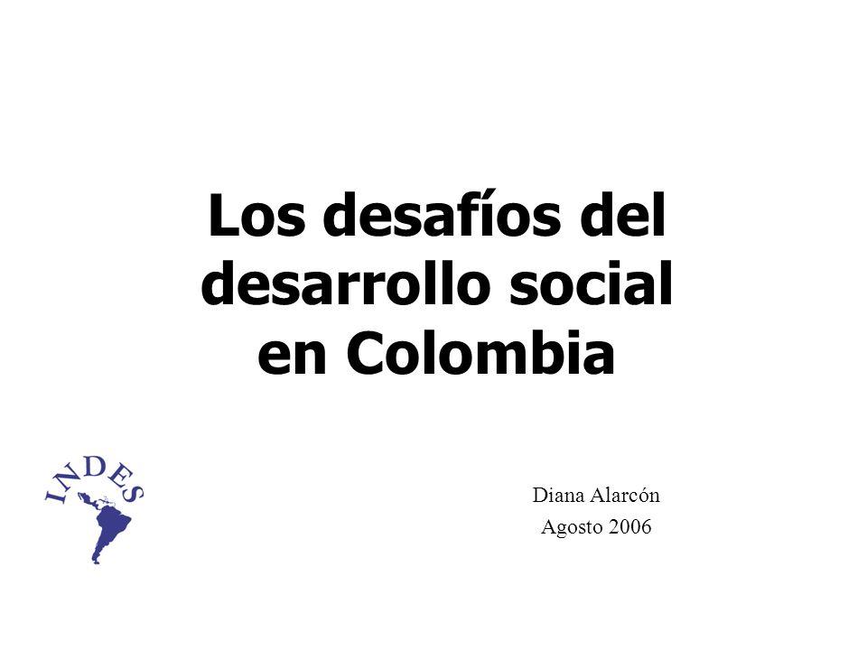 Los desafíos del desarrollo social en Colombia
