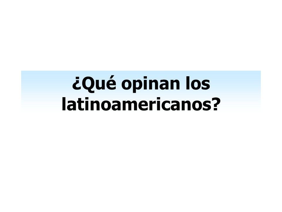 ¿Qué opinan los latinoamericanos
